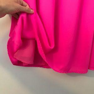 Gianni Bini Dresses - GB Gianni Bini Neon Pink Shift Mini Tunic Dress